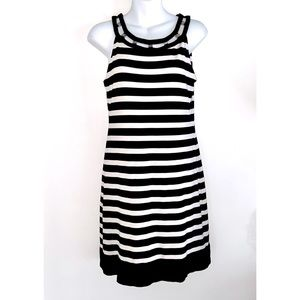 White House Black Market A-Line Stripe Dress Small